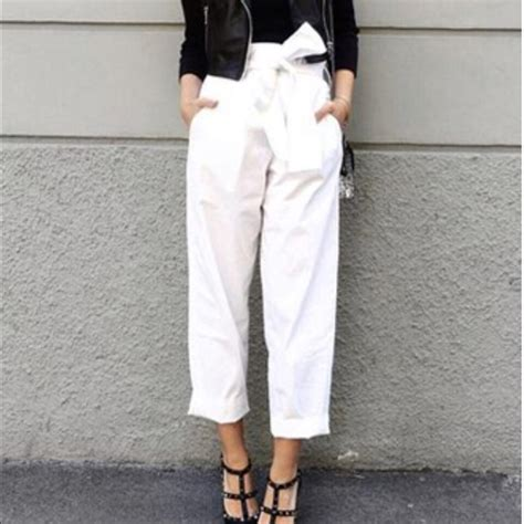Kate Olsens Paperbag Waist Trousers From Asos by 64 Zara Zara White Paper Bag From