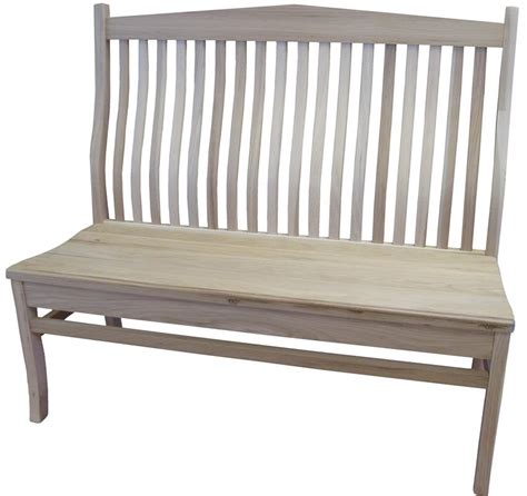 arch bench amish arched back mission bench