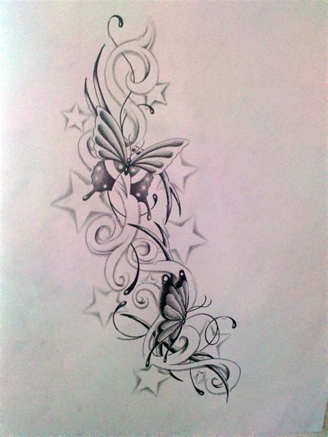 tattoo butterfly and stars butterfly with stars tattoo designs butterfly and star s