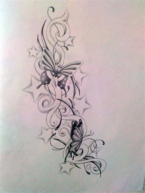 butterfly  stars tattoo designs butterfly  stars