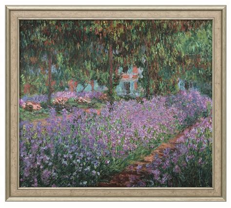 bild quot irisbeet in monets garten quot claude monet kunst