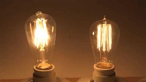 Lu Edison Classic Led 8watt energy saving with led filament bulbs comparison with