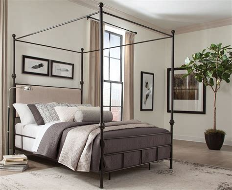 metal bedroom set lanchester metal canopy bedroom set 300546q donny osmond