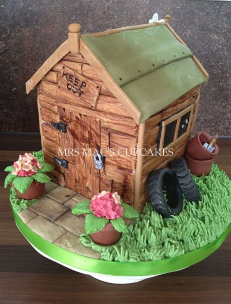 Shed Cakes by Garden Shed Cake Cakes Div Gardens