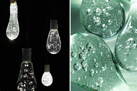 water drop light bulbs torafu architects s sparkling raindrop lights are made