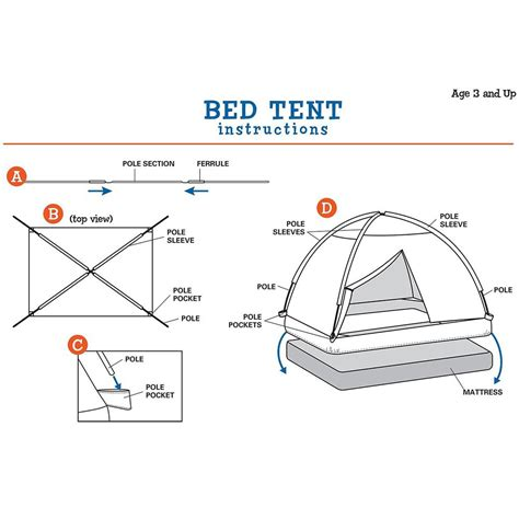 cottage bed tent pacific play tents cottage bed tent