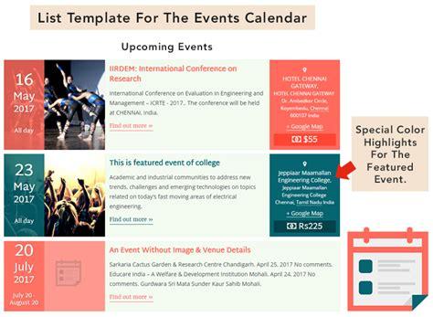 documentation pro templates calendar