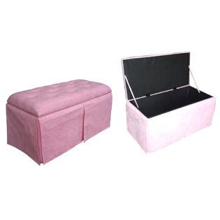 microfiber storage bench pink microfiber storage bench with 2 matching ottomans