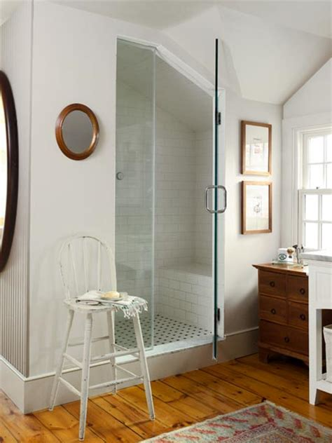 master bath steam shower  farmhouse renewed  grit