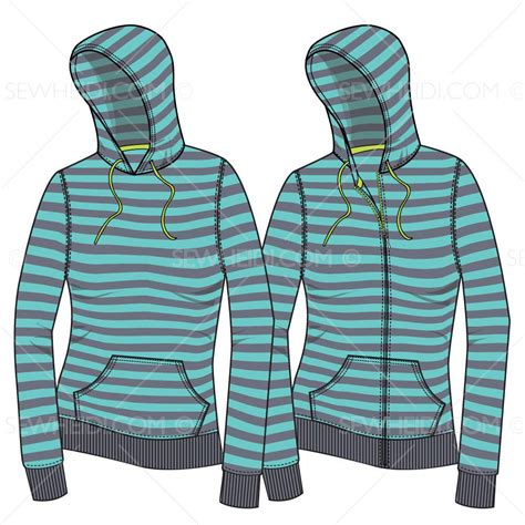 hoodie pattern download women s hoodie with envelope distorted fill fashion flat
