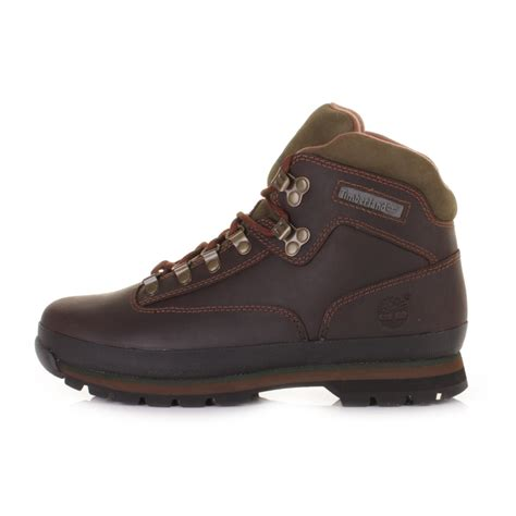 mens brown timberland boots mens timberland hiker brown lace up leather ankle