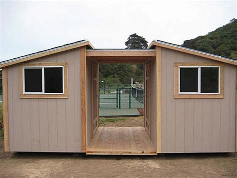 California Custom Sheds california custom sheds 2 shed roofs with overhang and deck