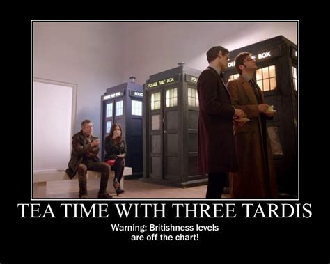 Tardis Meme - motivation tea time with three tardis by songue on deviantart