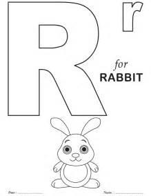 Printables alphabet r coloring sheets