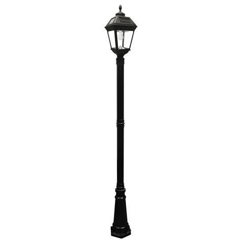 Solar Led L Post Lights by Gama Sonic Imperial Bulb Series Single Black Integrated