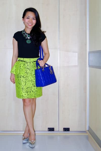 Topshop Ladybird Skirt by Blue Bags Green Zara Necklaces Yellow