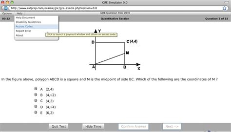 sections on the gre gre test simulator screenshot windows 8 downloads