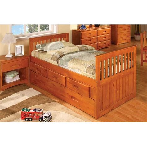 twin rake bed with 3 drawers and trundle honey rake bed with 3 drawers and trundle