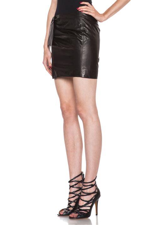marant boden lambskin leather skirt in black lyst
