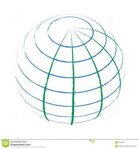 The Globe Outline by Globe Stock Photo Image 6508420