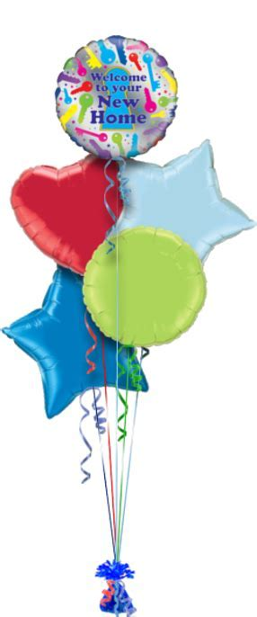 Welcome New Home Balloons Delivered   Helium balloon gift