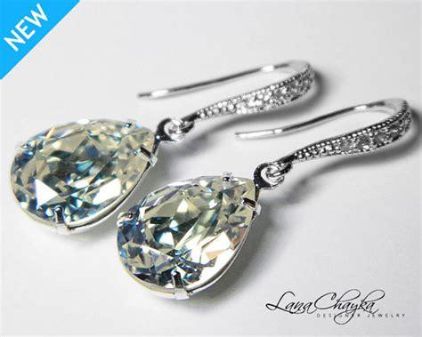 Earrings Dots Swarovski Silver Rhodium moonlight earrings swarovski moonlight sterling