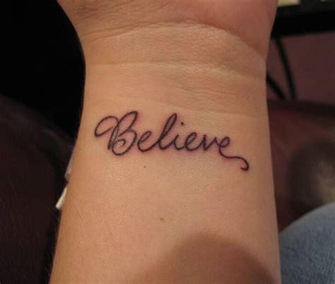 believe wrist tattoo designs wrist tattoos ideas