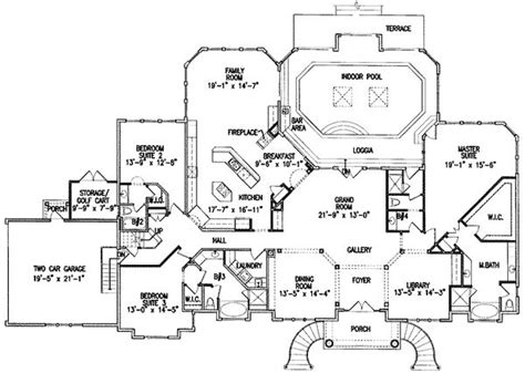 floor plans with indoor pool plan 15675ge luxurious indoor pool house plans one