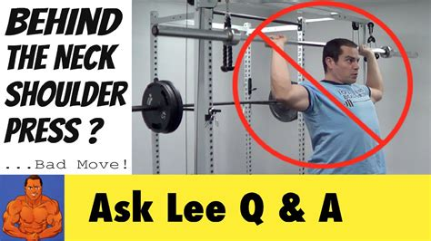 sore shoulder from bench press behind the neck shoulder press good or bad youtube