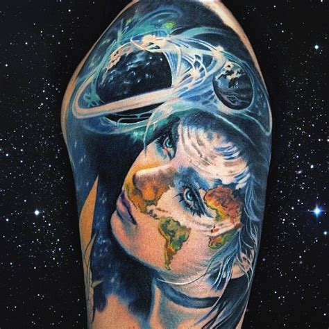 solar system tattoo sleeve top 100 best science tattoos for manly design ideas