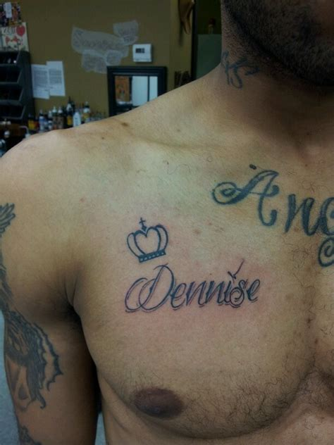 girlfriends name on boyfriends chest tattoos by shabazz