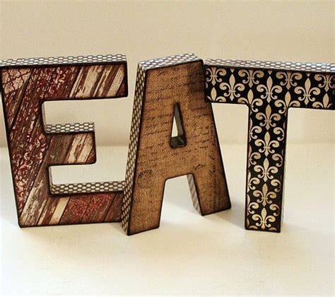 Decoupage Cardboard Letters - 119 best things for the kitchen images on