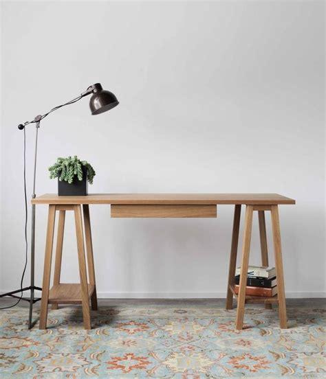 White Oak Sawhorse Desk Flea Pop Office Studio White Sawhorse Desk