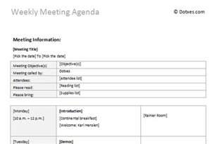 Weekly Meeting Minutes Template by Weekly Meeting Agenda Template Dotxes