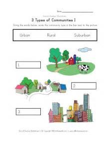 2nd grade social studies community worksheets lesson 2