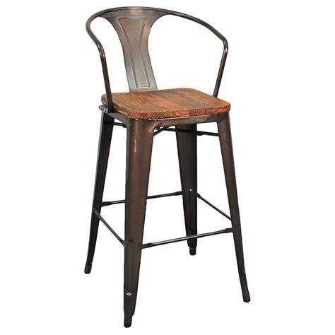 wood and metal stools metro modern gun metal bar stool eurway furniture