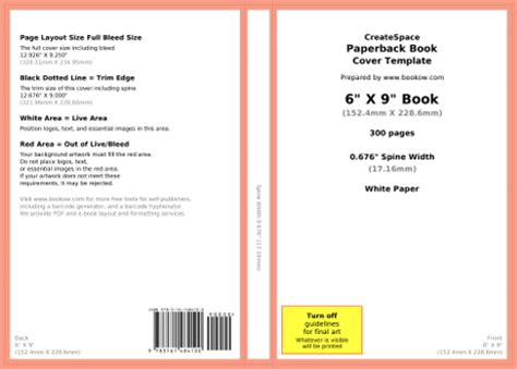 Bookow Free Resources Createspace Book Cover Template
