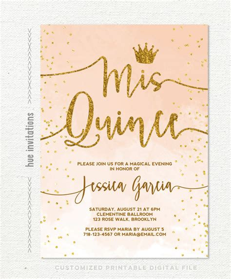 quince invitation templates 35 beautiful and unique quinceanera invitations templates