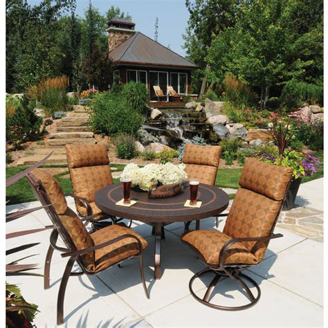 homecrest hill cushion patio dining set furniture