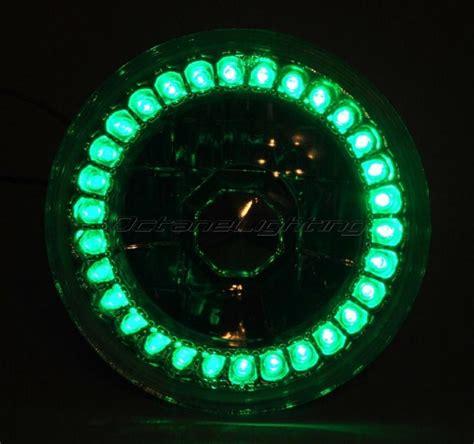 5 3 4 Halogen Motorcycle Green Led Halo Ring H4 Light Bulb Halo Led Light Bulbs