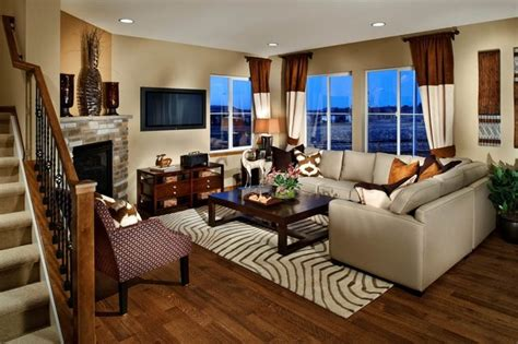 Builders Floor Service Inc by Ryland Model Homes Eclectic Living Room Denver By