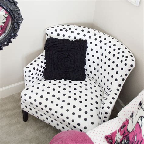 painted white polka dot on how to paint polka dot upholstery better after