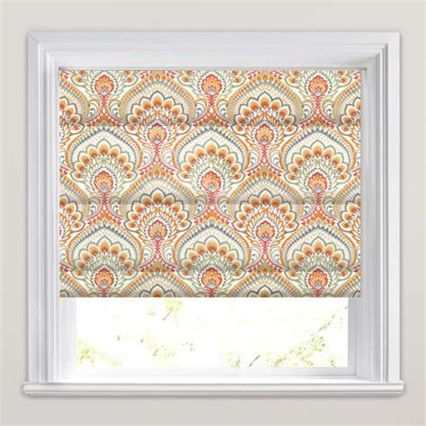Orange Patterned Blinds orange grey taupe white psychedelic paisley patterned