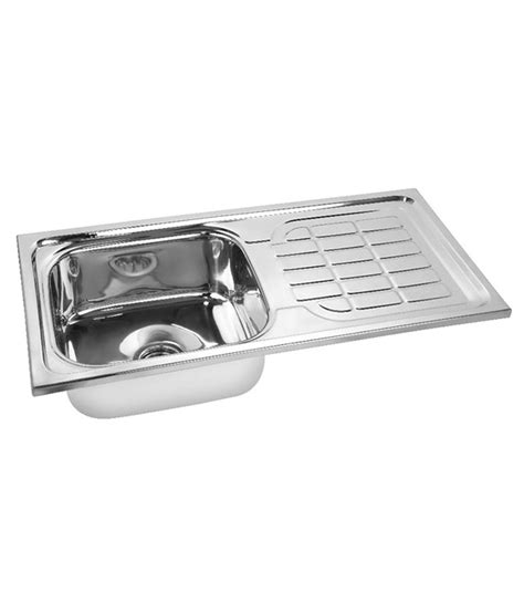 Buy Stainless Steel Kitchen Sink Buy Gargson Kitchen Stainless Steel Sink With Drainboard At Low Price In India Snapdeal