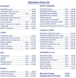 wedding dress alterations prices dress alterations prices