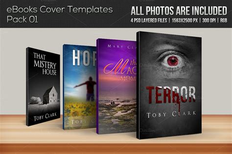 Free Ebook Covers Templates by 4 Ebook Cover Templates Pack 01 Templates On Creative