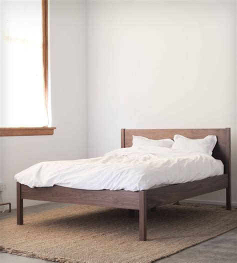 walnut bed frame headboard home furniture hedge