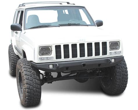 front of a jeep jeep front bumper crusader jeep xj 84 01