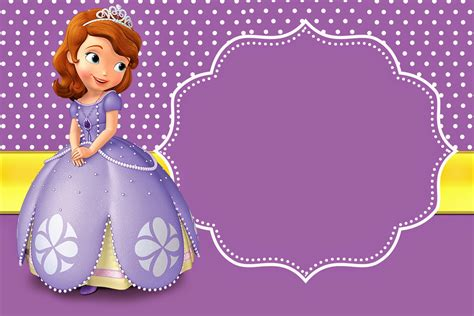 printable invitations of sofia the first sofia the first free printable invitations places to