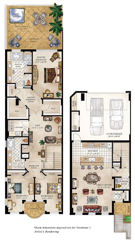 townhouse floor plan luxury homes floor plans